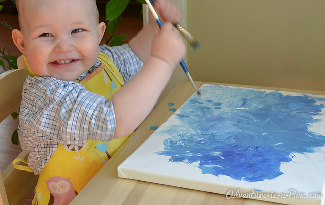 Make a Painting Together with Toddlers
