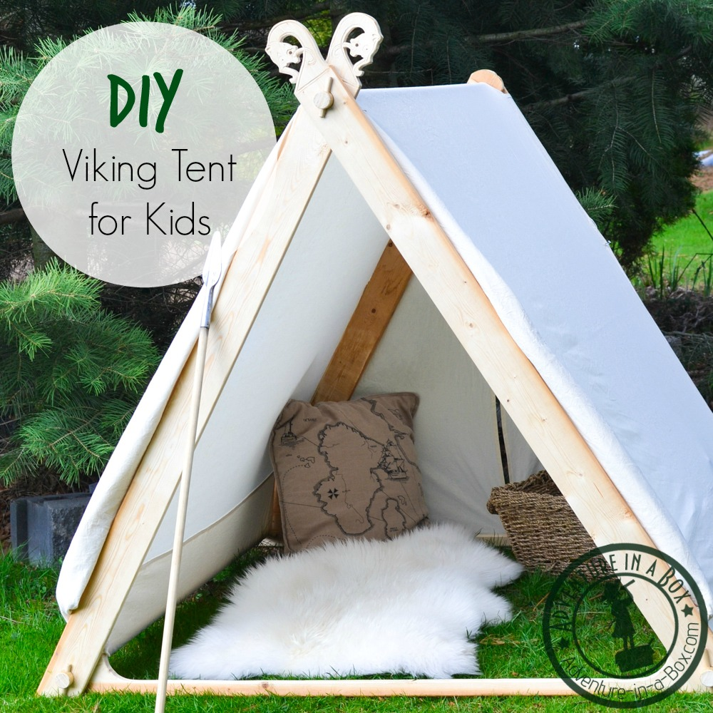 DIY Viking Tent for Kids Good for indoors and outdoors! So simple that vikings & How to Make a Viking Backyard Play Tent