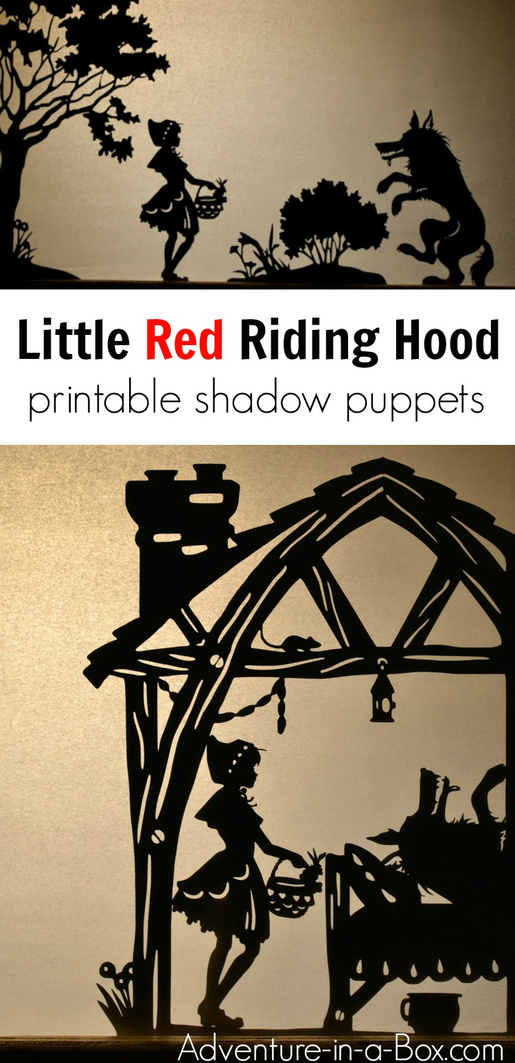 Based on the famous fairy-tale, these shadow puppets will let your kids make their version of Little Red Riding Hood and stage a shadow play at home or in the classroom. #shadowpuppets #puppets #kidsplay #kidscrafts #homeschool #preschool