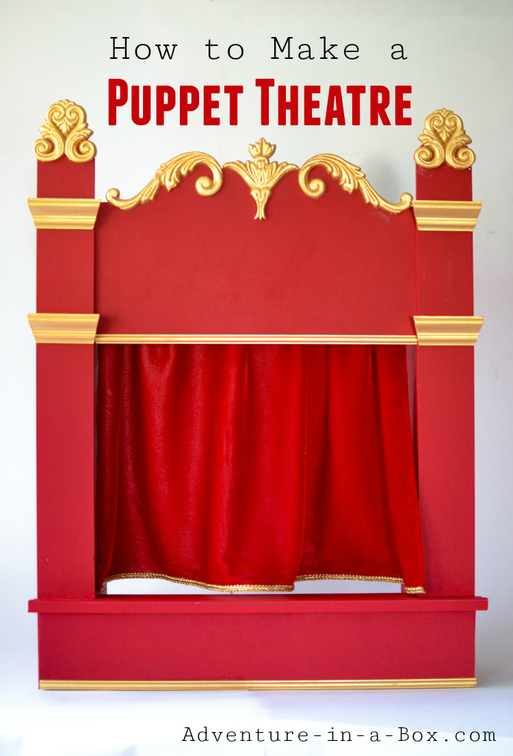 Staging a play in a puppet theatre is a great family activity for kids and adults alike! Read our tutorial on how to make a vintage-inspired wooden puppet theatre.