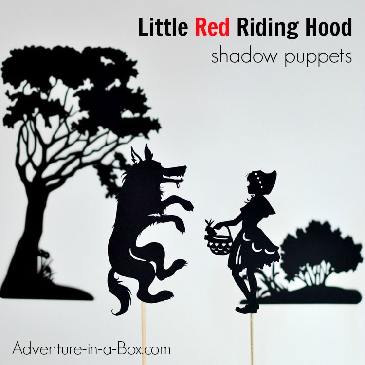 graphic about Little Red Riding Hood Story Printable referred to as Minor Pink Using Hood Shadow Puppet Printables