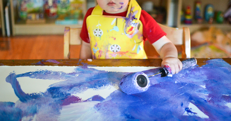 Roller Painting for Kids