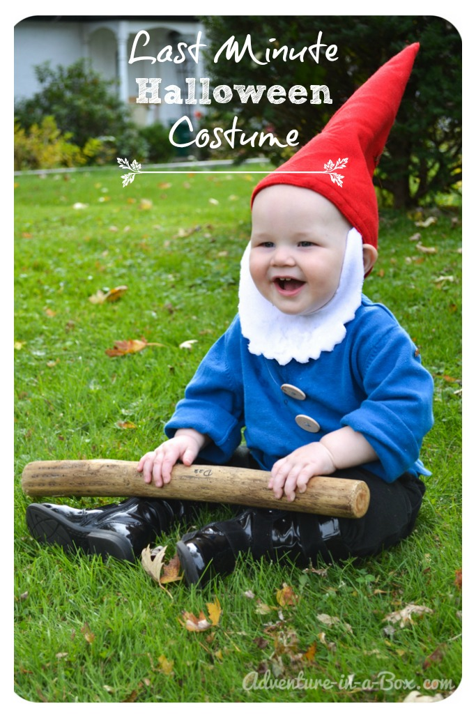 Quick and Easy Garden Gnome Halloween DIY Costume Idea: Perfect for Babies and Toddlers!