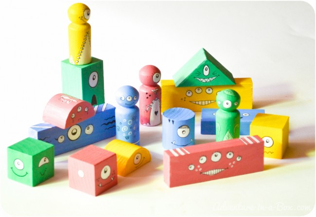 How to Make Wooden Monster Blocks