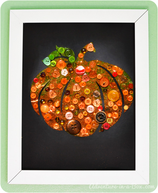 Button Pumpkin: Autumn Craft for Children