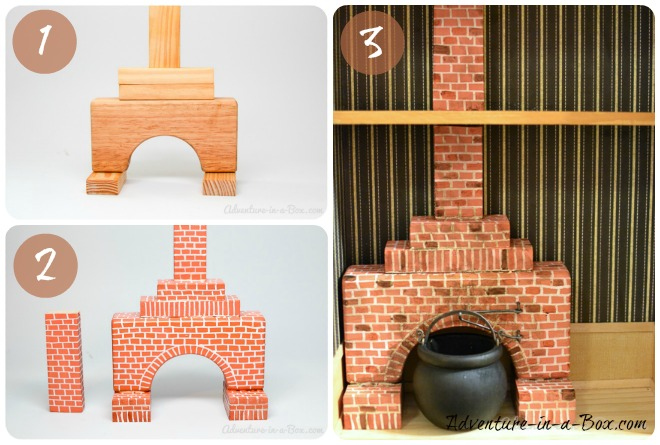 How to Make a Simple Fireplace for a Dollhouse