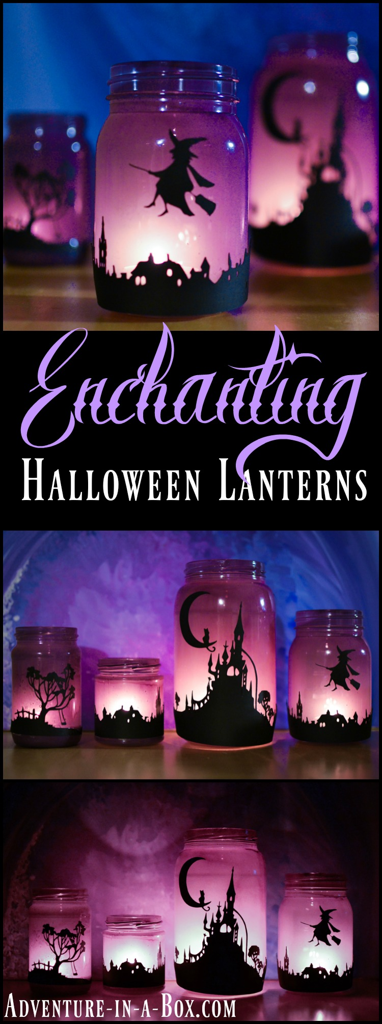 Make A Set Of Enchanting Halloween Lanterns From Mason Jars, Suitable For  Elegant Halloween Party