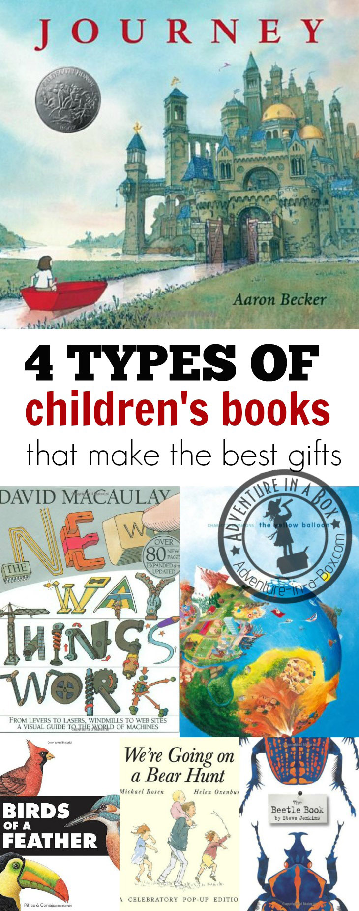 4 Types of Children's Books That Make the Best Gifts: for Christmas, for birthdays, and other holidays, choose a book for a gift!