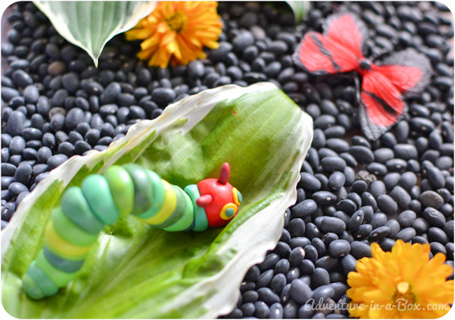 The Very Hungry Caterpillar: Delicious Sensory Bin!