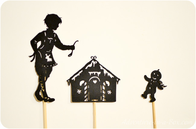 The Gingerbread Man Shadow Puppet Printables | Adventure in a Box