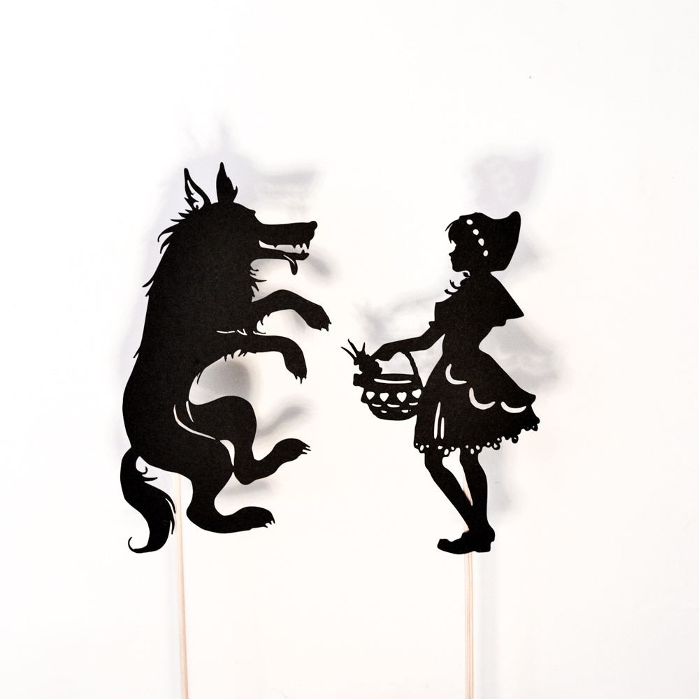 little red riding hood shadow puppet printables adventure in a box