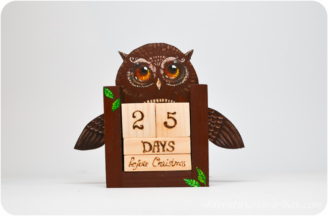 Make a Countdown Calendar with Wooden Blocks