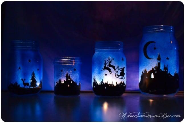Painted Mason Jar Night Light