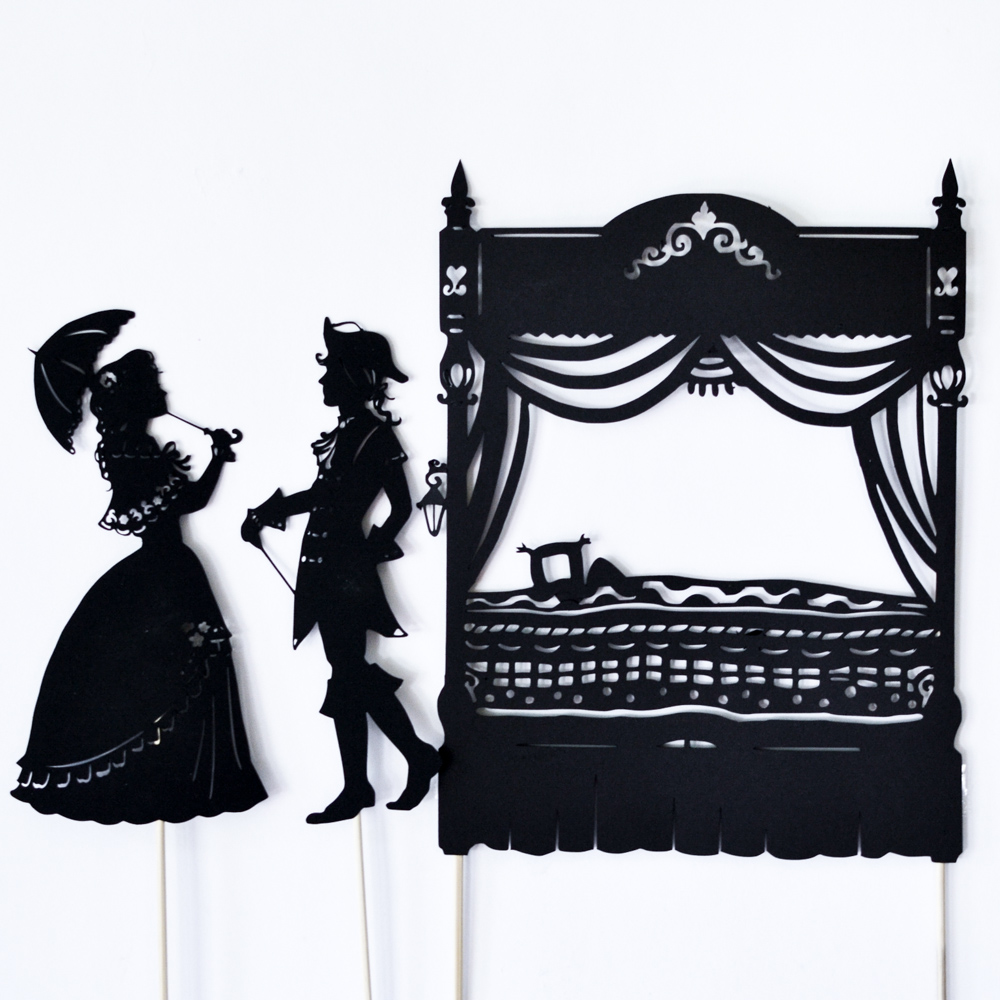 The Princess And The Pea 5 Shadow Puppets