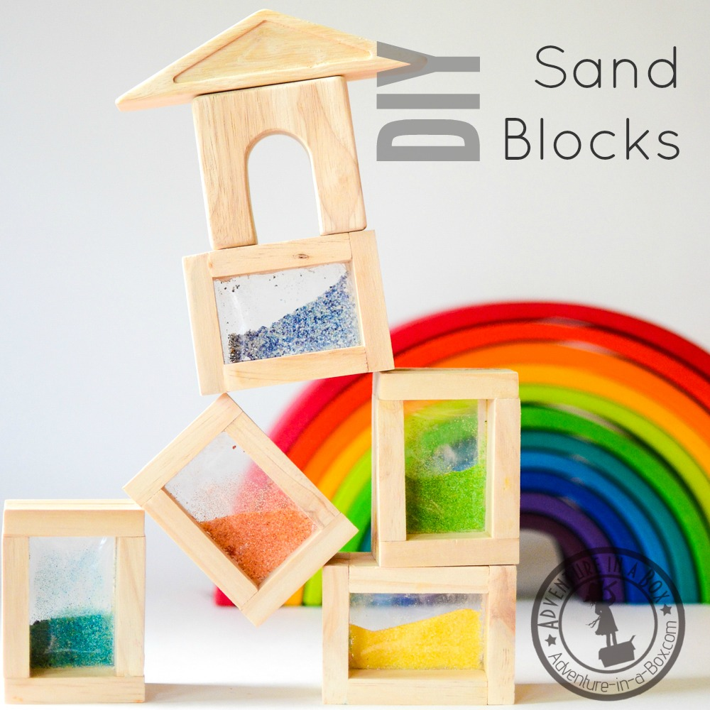 Rainbow Sand Blocks: With this DIY toy tutorial, you can easily build a set of handmade sand blocks for kids. A perfect addition to Reggio-Inspired and Waldorf playrooms!