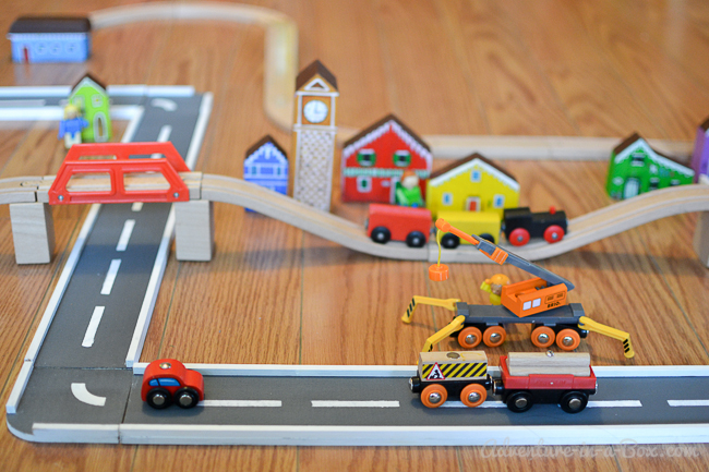 Toy Car Track : Wooden road tracks and ramps diy project