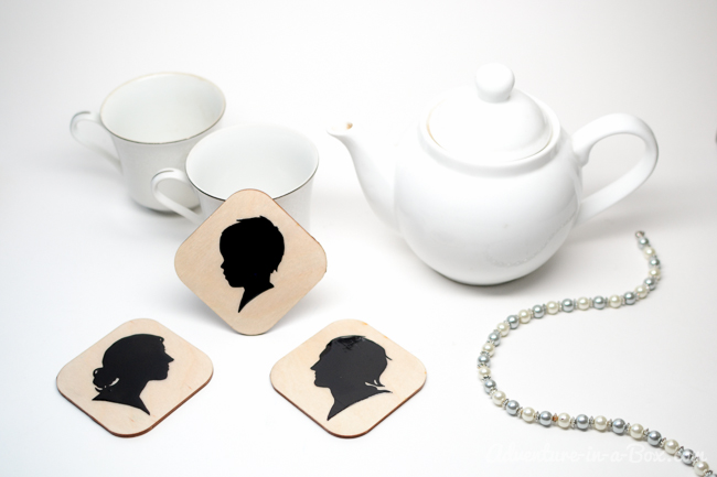 Make a Set of Wooden Coasters with Family Silhouette Portaits