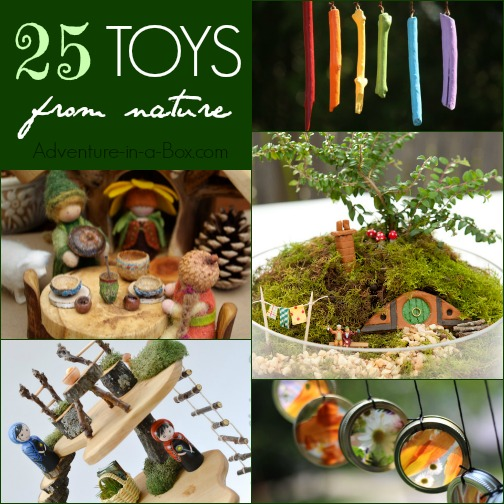 Do your kids like collecting rocks, branches and moss? These awesome nature finds can be turned into fun DIY toys!