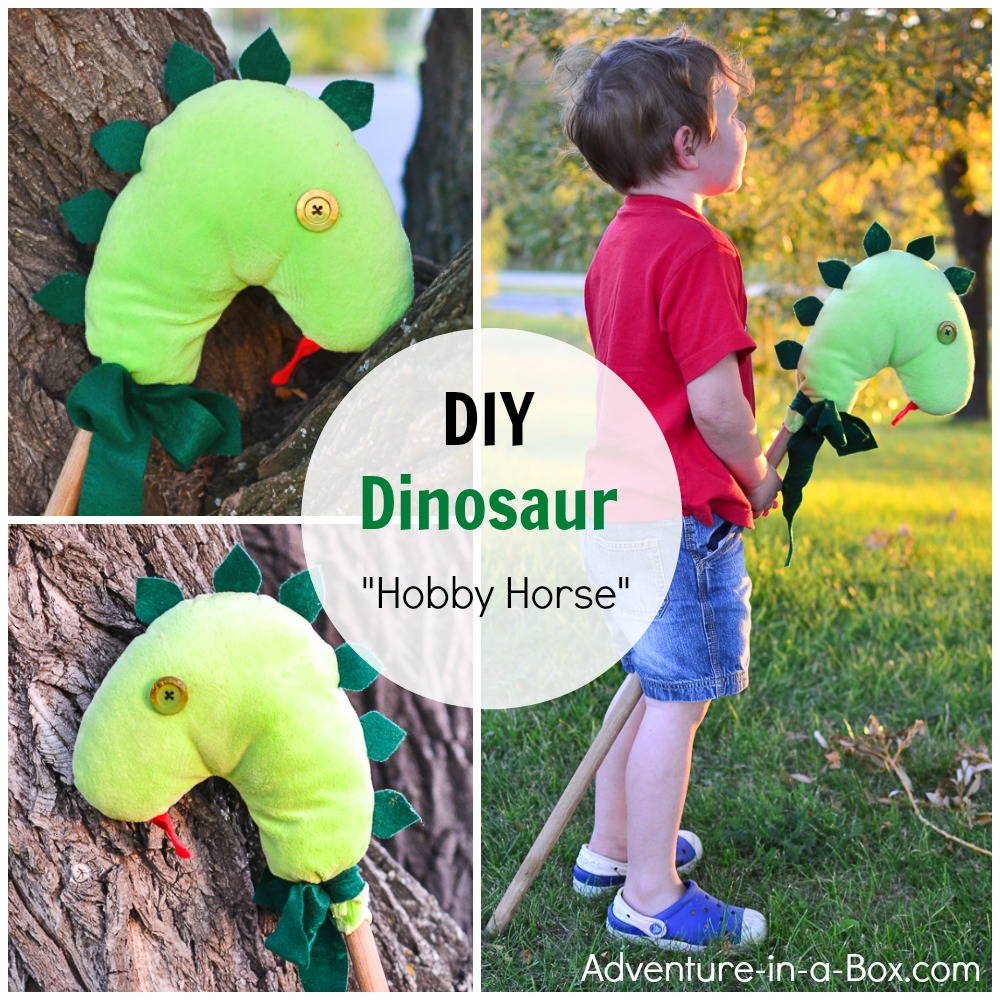What kid wouldn't dream of riding a dinosaur? With this DIY tutorial of how to make a dinosaur hobby horse, this dream can easily come true.