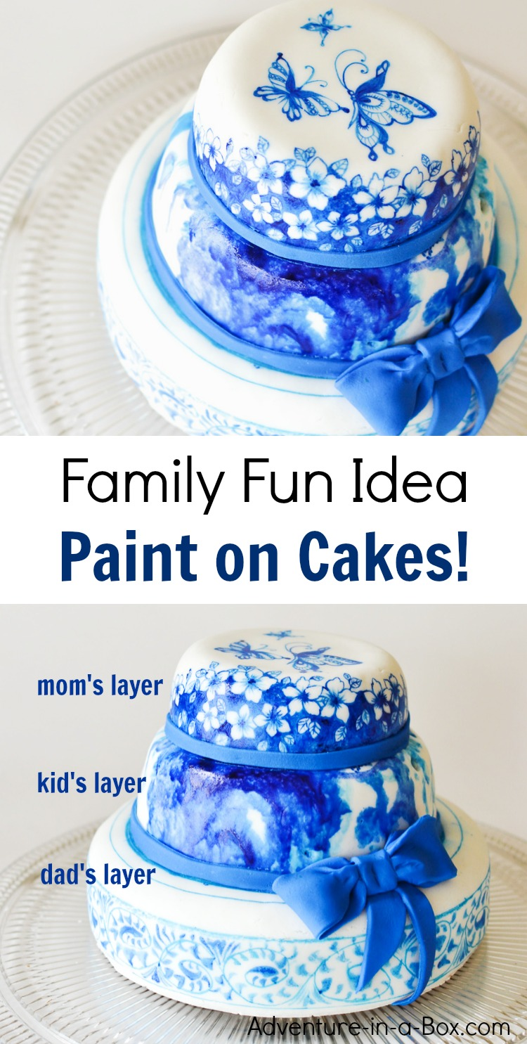 Strange Cake Painting With My Family Adventure In A Box Funny Birthday Cards Online Bapapcheapnameinfo