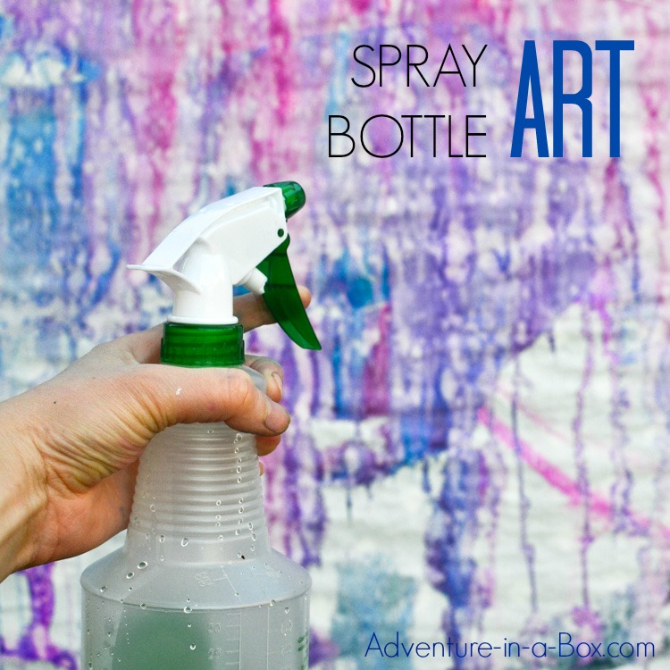 This summer, try this fun outdoor activity with kids - making spray bottle art in your backyard!