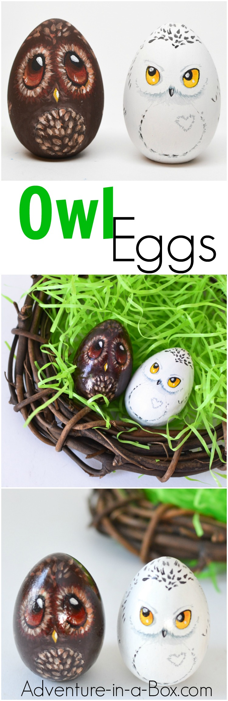 Paint your Easter eggs as cute owls and give them as gifts this year! A good Easter craft for children and adults to enjoy together.