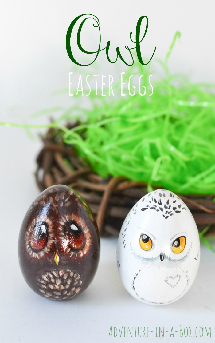 Turn your Easter eggs into cute owls and give them as gifts this year! A good Easter craft for children and adults to enjoy together.