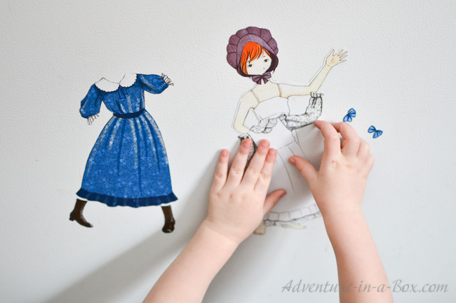 Pioneer Dress-Up Doll Printable | Adventure in a Box