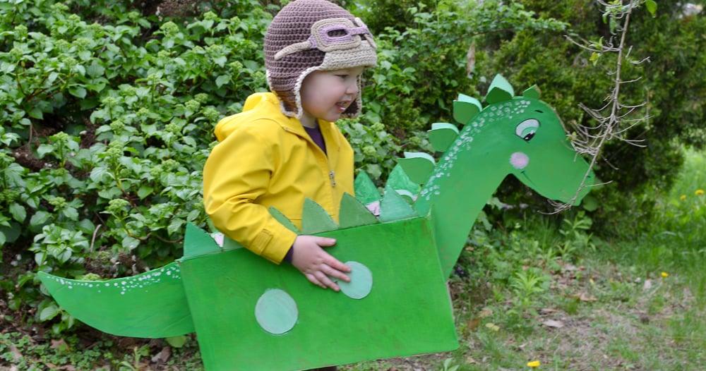 Cardboard Box Dinosaur