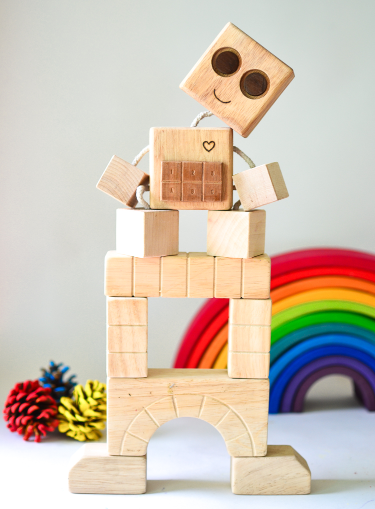 DIY Wood Robot for Kids
