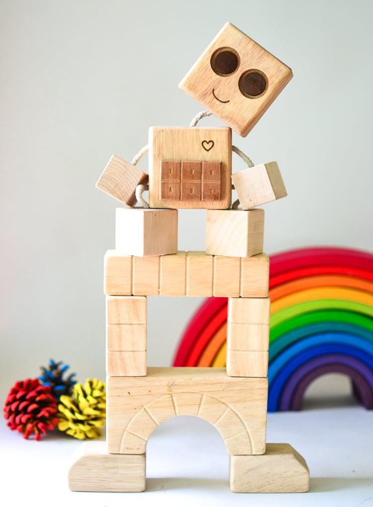 DIY Wood Robot for Kids