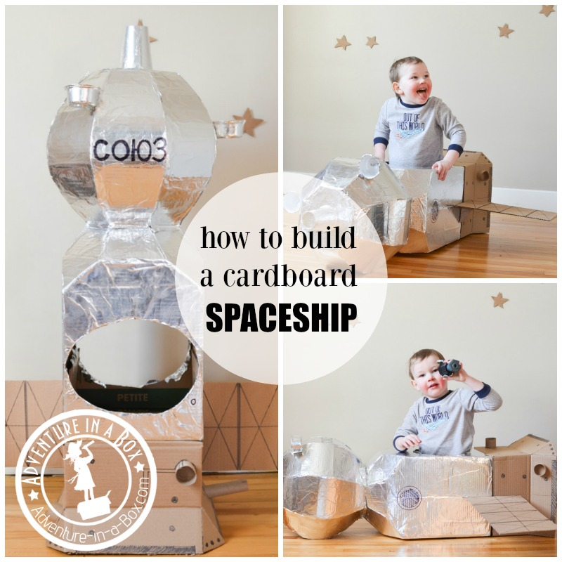 How to Build a Cardboard Spaceship: recycling craft for the space fans of all ages