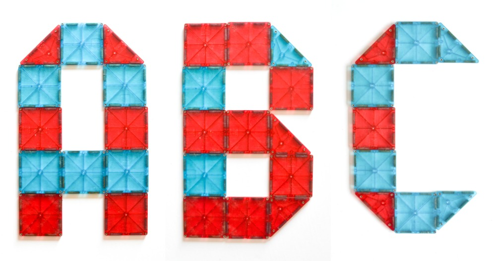 Magna-Tiles Uppercase Alphabet Printable Cards
