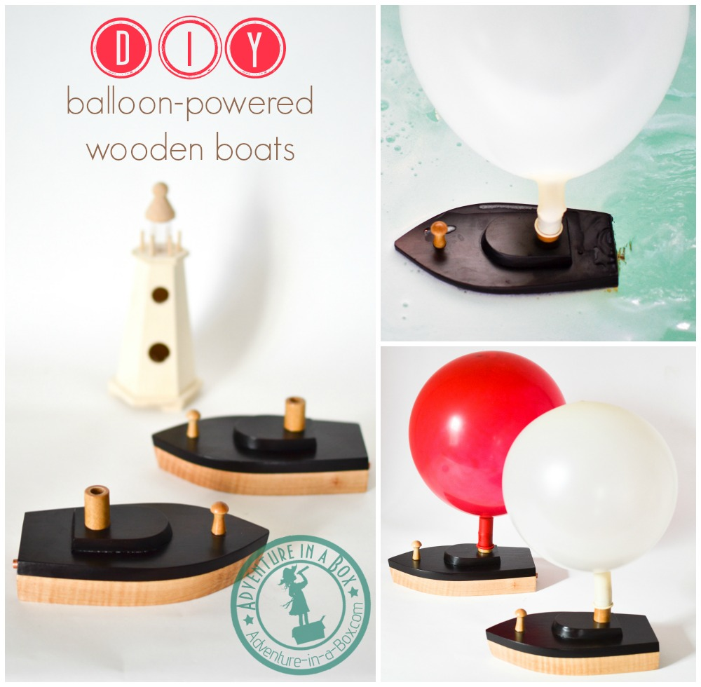 Wooden toy boats are fun to make! Add to this a little experiment to study the mechanics of movement, and you've got this - a DIY balloon-powered wooden toy boat.