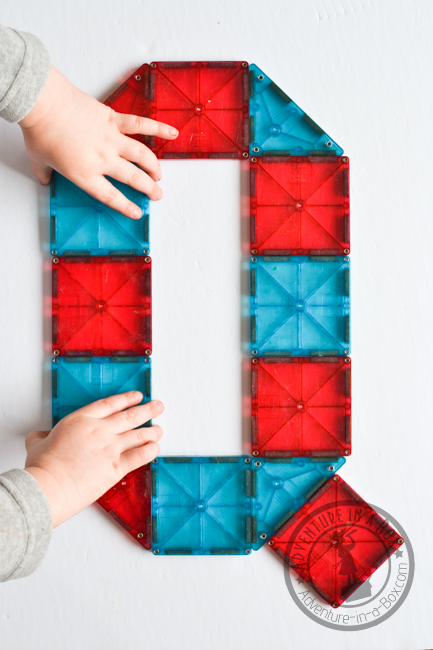 Magna-tiles Alphabet Printable Cards: Free printable cards of 26 letter designs for kids to reproduce.