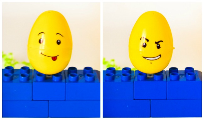 Lego Easter Egg Craft: Lego double-sided face
