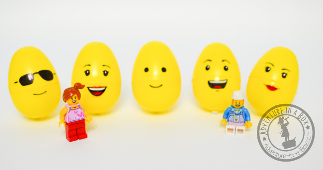 Lego Easter Egg Craft: matching Lego eggs and to Lego figurines