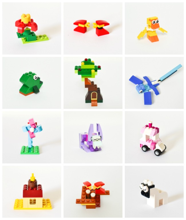 12 Small Spring Lego Projects: a delightful alternative to candies in filling Easter eggs and baskets for an Easter hunt