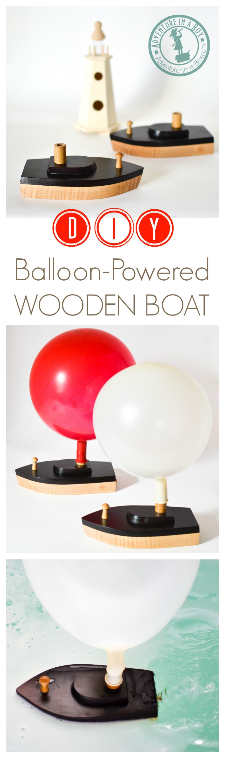 Wooden toy boats are fun to make! Add to this a little experiment to study the mechanics of movement, and you've got this - a DIY balloon-powered toy boat.