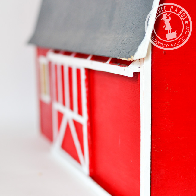 Handmade Toy Wooden Barn: how to make a sliding door in the barn