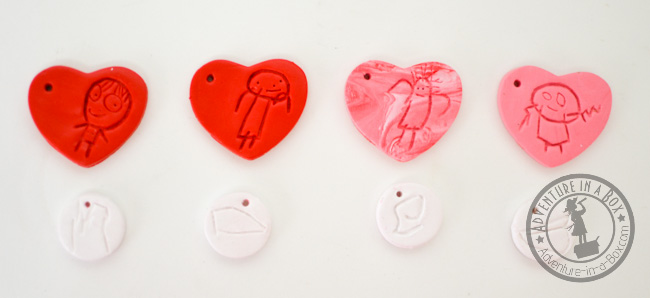 DIY Kid-Designed Keychains: portraits and letters are ready to be baked!