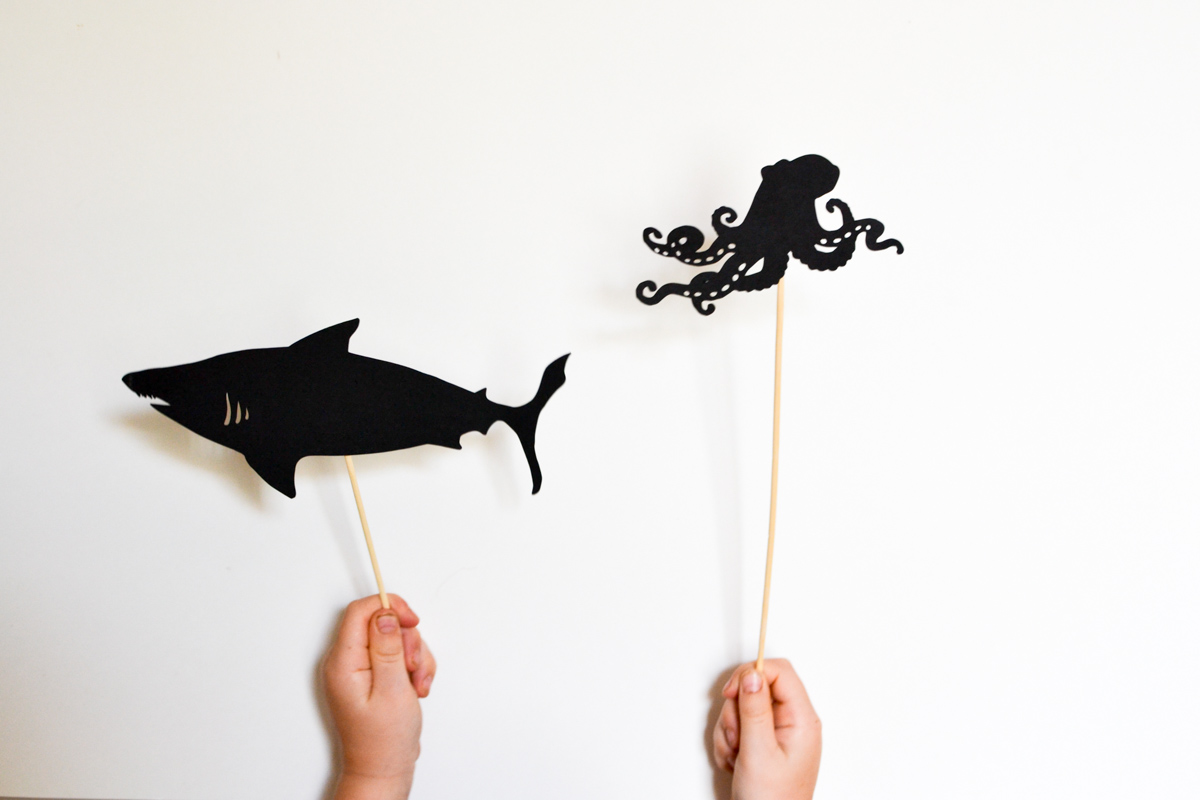 Ocean Life Shadow Puppet Printables Adventure In A Box