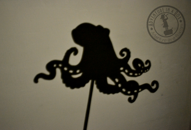 Octopus shadow puppet.