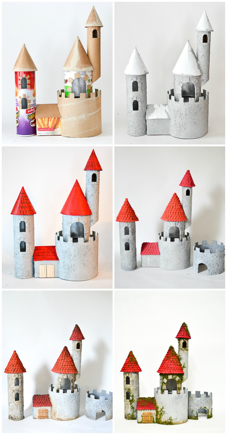 DIY Make A Cardboard Castle From Recyclable Materials Build An Impressive Toy Out Of