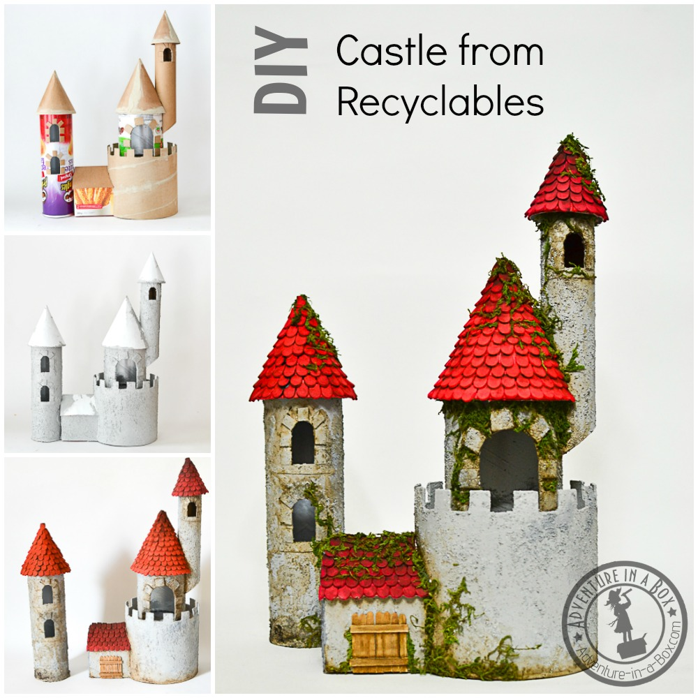 DIY Cardboard Castle from Recyclable Materials #upcycling #crafts #kidscrafts #homeschool