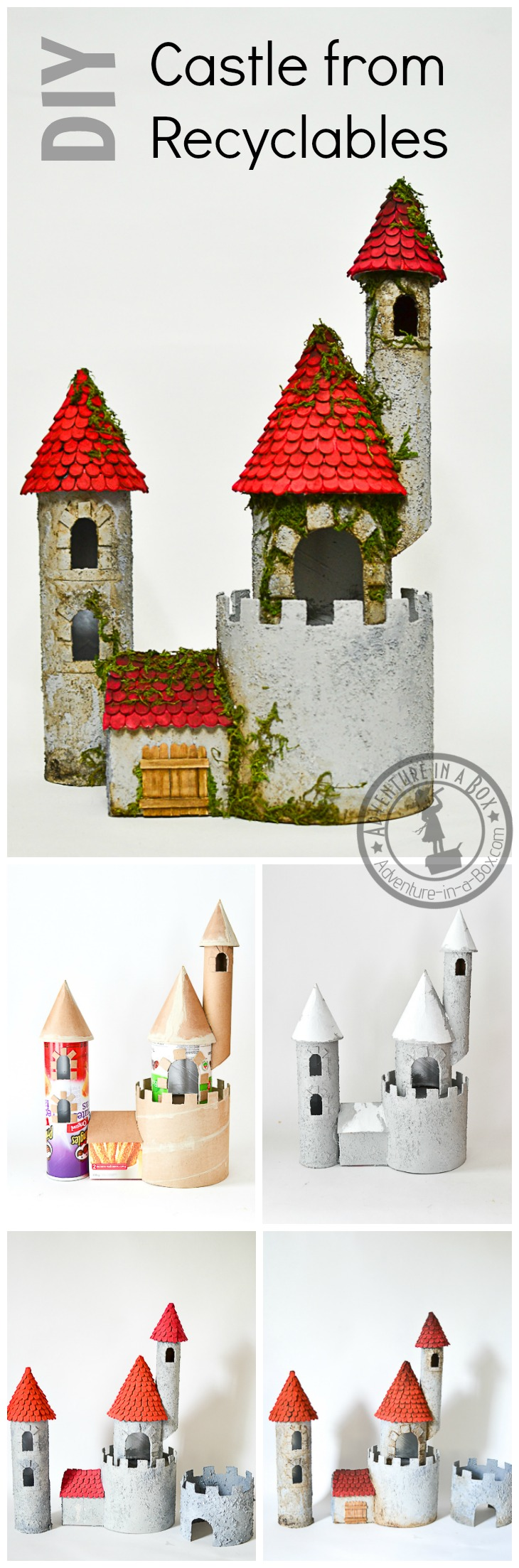 Diy make a castle from recyclable materials adventure in for Craft model with waste material