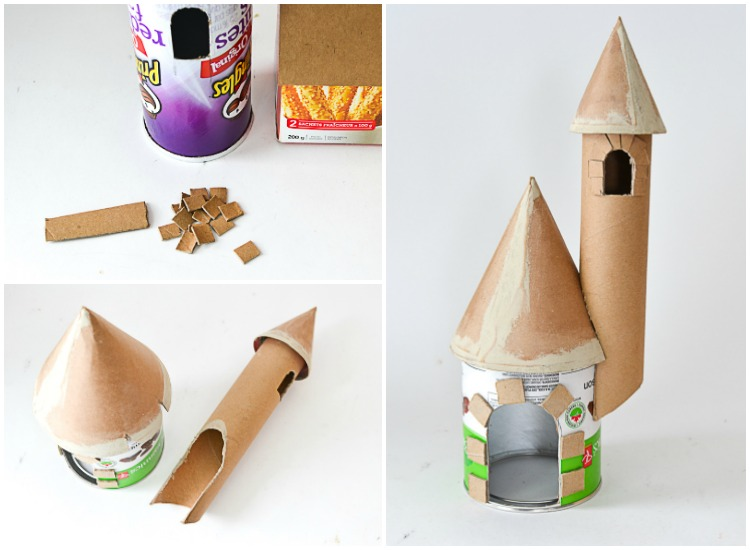 Diy make a castle from recyclable materials adventure in for Castle made out of cardboard boxes