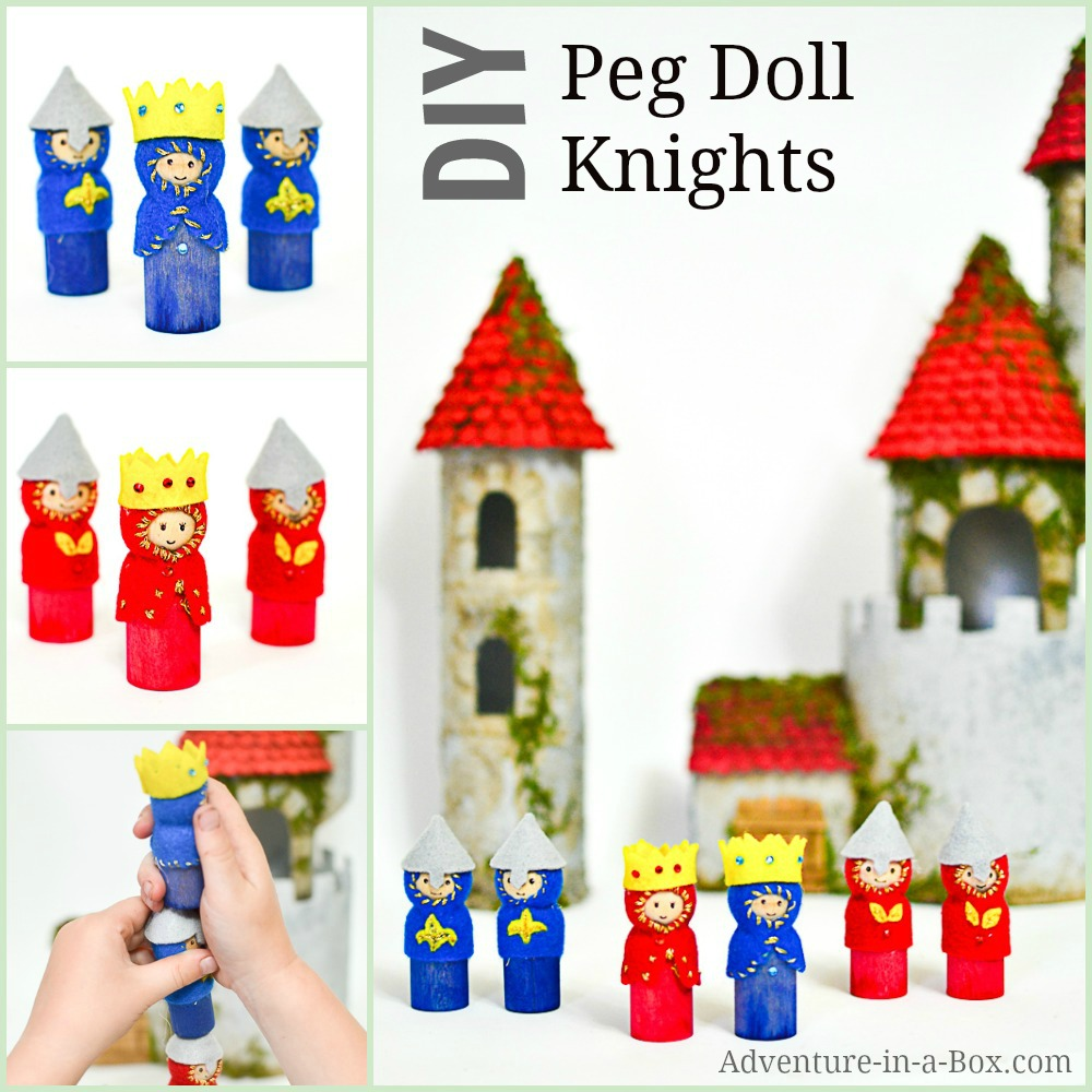 Diy Peg Doll Kings Queens And Knights Adventure In A Box