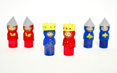 DIY Peg Doll Kings, Queens and Knights