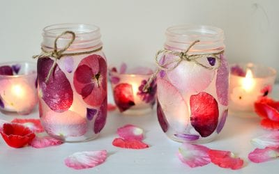 Flower Petal Candle Holders